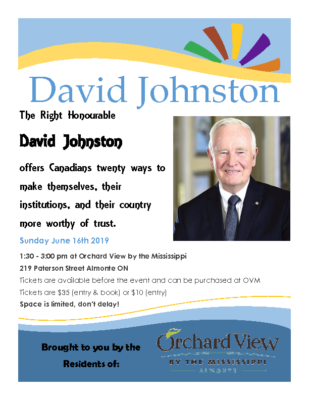 David Johnston Poster