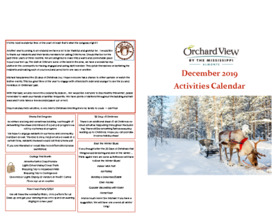 OVM – December Calendar 2019 Activity Package