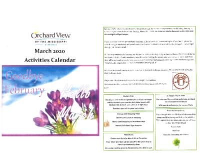 OVM- March Calendar package.2020