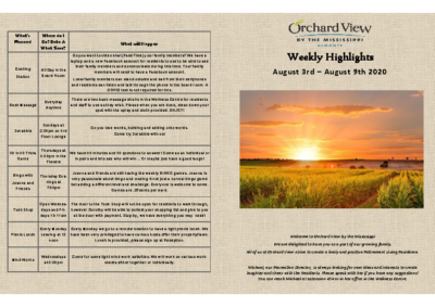 OVM – Highlights August 3rd- August 9th