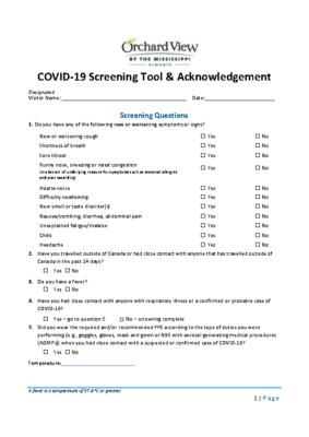 Designated Visitor Screening and Acknowledgement ver2