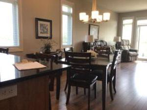 Orchard View By the Mississippi Town Home Dining & Living Room ~ left side